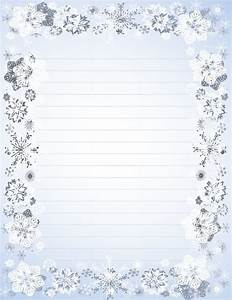 christmas border letter writing paper sample