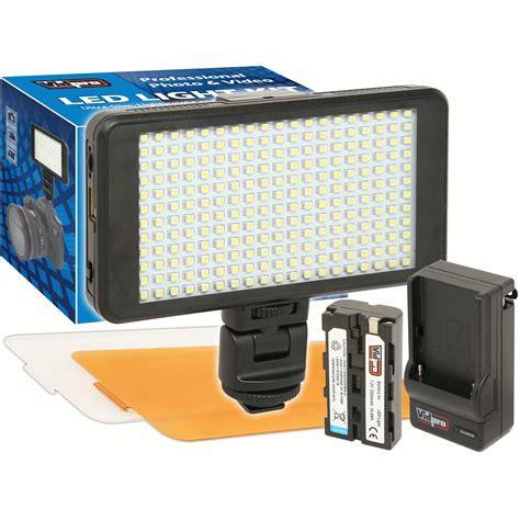 vidpro professional led light vidpro ultra slim led 230 on camera video lighting kit led 230