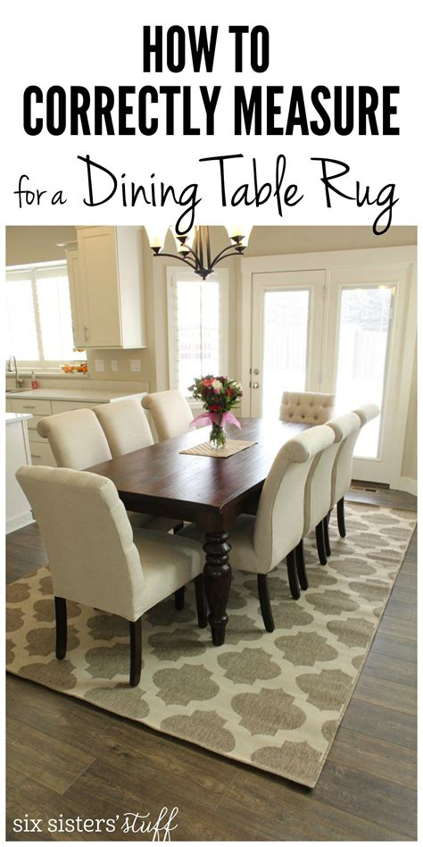 correctly measure   dining room table rug
