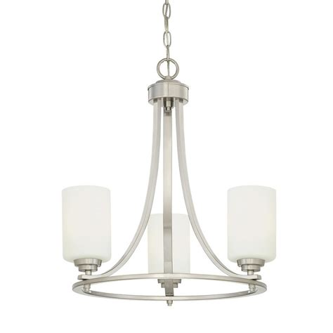 shaded chandelier millennium lighting bristo 3 light satin nickel modern