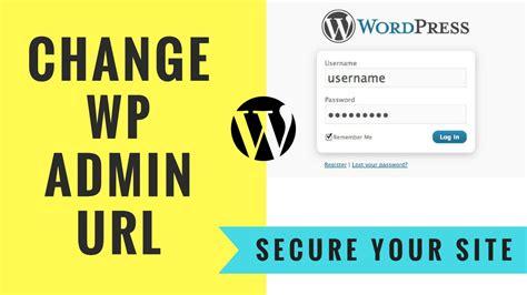 How To Hide Wordpress Admin Page Url
