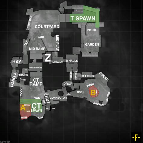 Carte Go by Cs Go Map Callouts All Competitive Maps Spindle Gaming