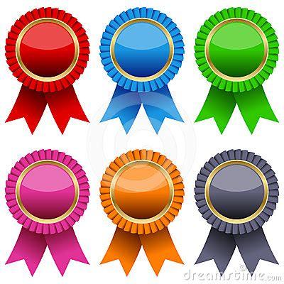 colorful award ribbons set stock image image
