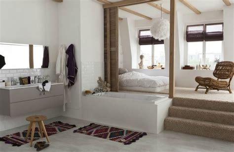 chambre ouverte sur salle de bain la salle de bain ouverte sur la chambre photo 8 10 une