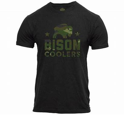 Bison Camo Coolers Shirts