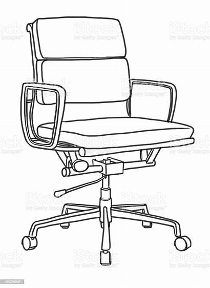 Chair Office Drawing Hand Illustration Abstract Building