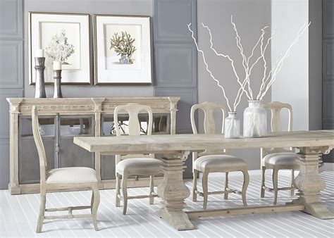 trestle dining table grey salvaged wood gray rectangle dining table with trestle base 6376