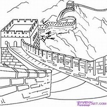 hd wallpapers great wall of china coloring pages for kids - Great Wall China Coloring Page