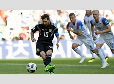 Argentina vs Iceland Messi misses a penalty against