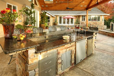 granite kitchen countertops ideas outdoor kitchen idea gallery galaxy outdoor