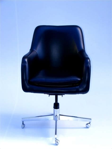 contemporary black leather rolling small office chairs on