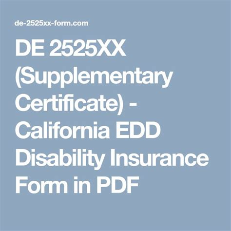 de xx supplementary certificate california edd