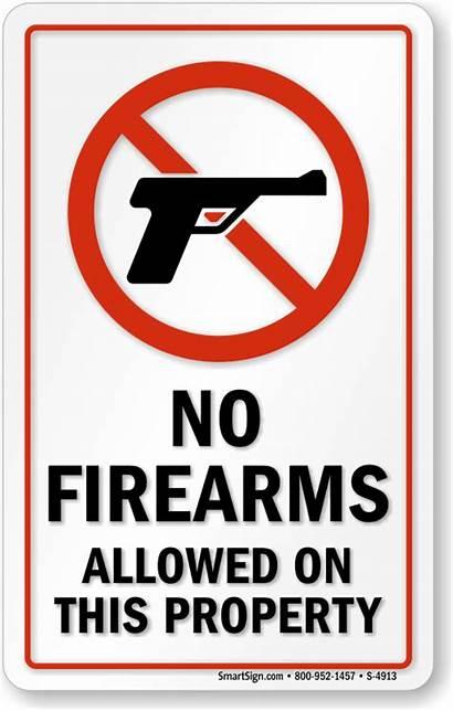 Signs Door Firearms Allowed Smoking Window Eating