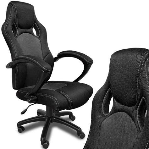 fauteuil bureau baquet fauteuil de bureau noir en type racing achat