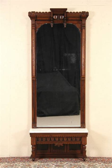 sold victorian eastlake carved  hall pier mirror