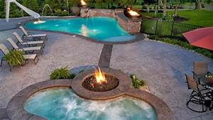 FireWater Combo In 15 Traditional Pools With Fire Pits