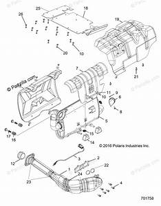 Polaris Side By Side 2018 Oem Parts Diagram For Engine  Exhaust System  Kbs  701758