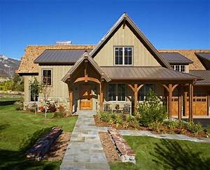 salt lake city Covered Porch home entry rustic with garden