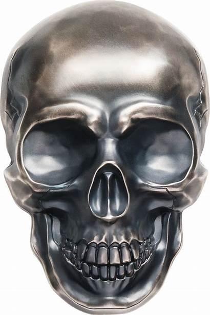 Skull Silver Coin Palau Kilo Shape Dollars