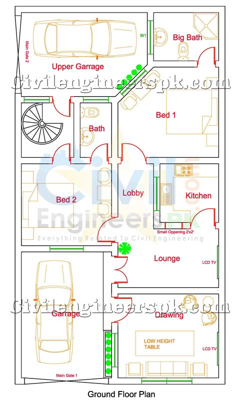simple two house plans 5 marla house design for 2 separate families civil