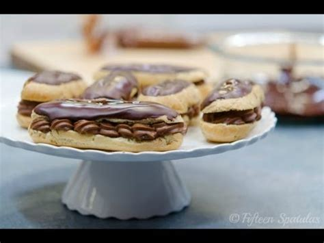 chocolate eclairs recipe with chocolate pastry