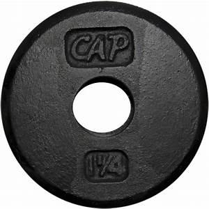 Cap Barbell Standard Cast Iron Weight Plate  1 25 Lbs  Black - Walmart Com