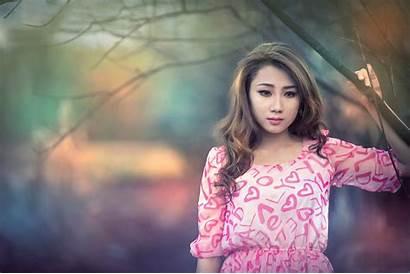 Asian Portrait Beauty Wallpapers Shoot Lady Computer