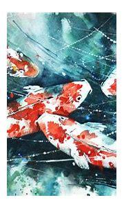koi, Painting, Watercolor, Fish, Artwork, Paint splatter ...