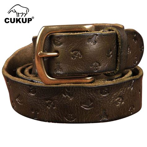 100 cowhide leather cukup 100 cowhide leather belts pin buckle