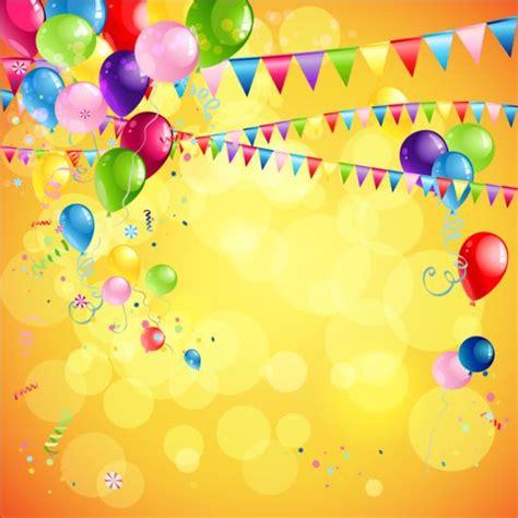 bright birthday background design vector