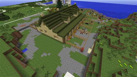 Minecraft Pe Barn by The World Of Raar Spotlight Stable