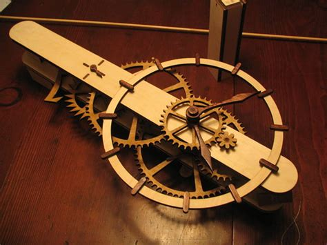The Ascent Clock Is A Wooden Mechanical
