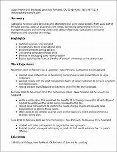 1 revenue cycle specialist resume templates try them now With healthcare revenue cycle management resume samples