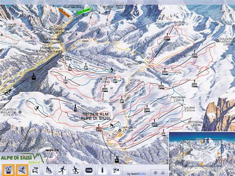 alpe  siusi piste map trail map