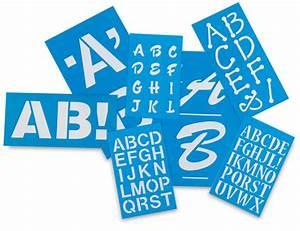 Westcott c thru betterletter plastic letter stencils for Plastic letter stencils