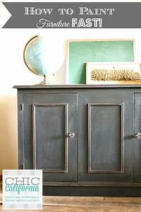 how to use chalkboard paint How to Paint Furniture Fast Using Chalk Paint