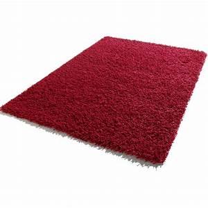 tapis a longues meches 120 x 170 cm shaggy rouge frais With tapis shaggy avec prix canapé satis