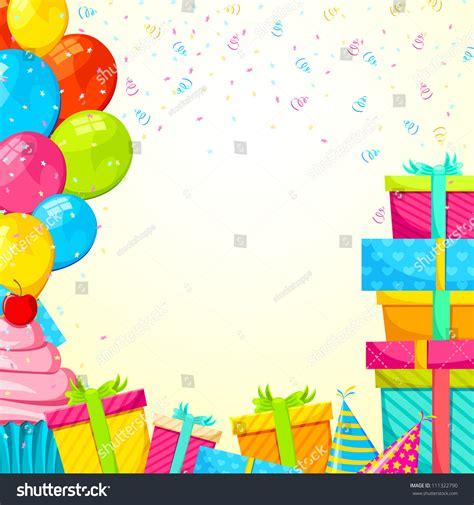 vector illustration happy birthday background gifts stock