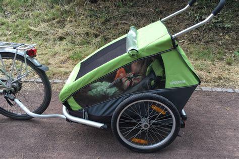 croozer kid 2 qeridoo sportrex2 im test 2016 fahrrad