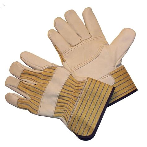 G & F Large Heavy Cowhide Leather Palm Gloves With Heavy