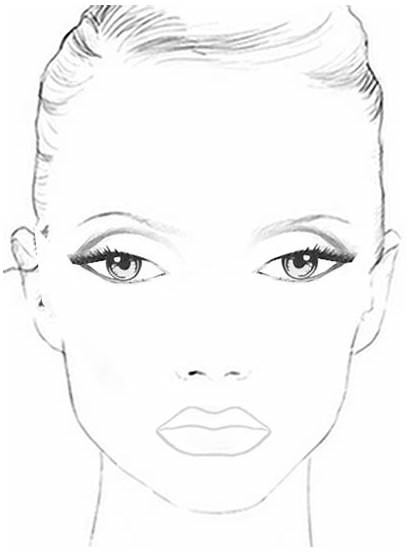 Makeup Face Chart Coloring Pages Template Charts