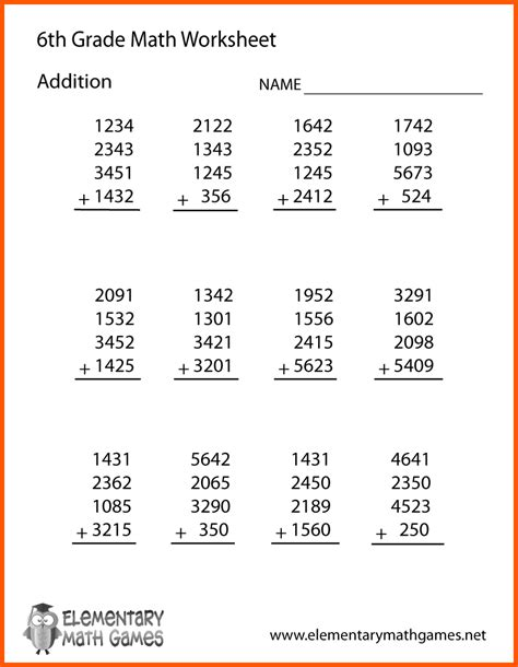 14 sixth grade math worksheets operation sandbox