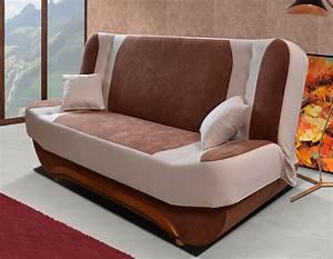 canap clic clac pas cher bicolore plusieurs coloris With tapis shaggy avec canapé lit ou clic clac