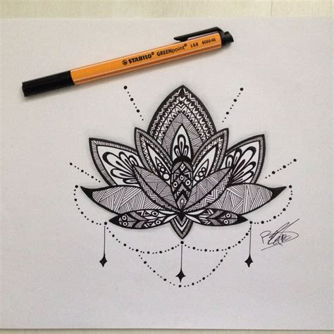 dessin fleur de lotus tattoo xv jornalagora