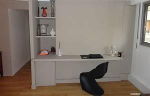 Plan De Travail Pour Bureau : avant apr s am nager un espace cuisine salon bureau 14 ~ Dailycaller-alerts.com Idées de Décoration
