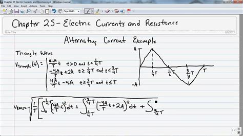 form factor of square wave 1010 chapter 25 electric current and resistance