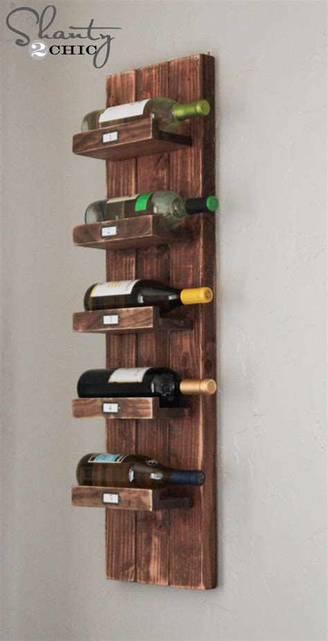 wall wine rack diy wine rack shanty 2 chic