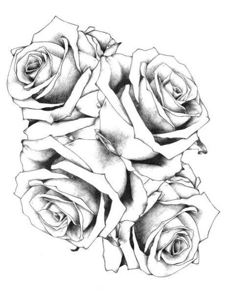 Trend Tattoo Styles: Simple Design Rose Tattoo, black and grey