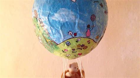 paper mache hot air balloon diy crafts