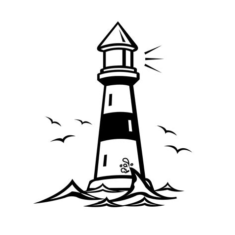 printable lighthouse coloring pages  kids